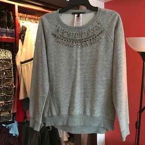 BCBG jeweled sweater